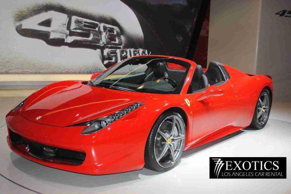 Spider Ferrari Red Rental Beverly Hills
