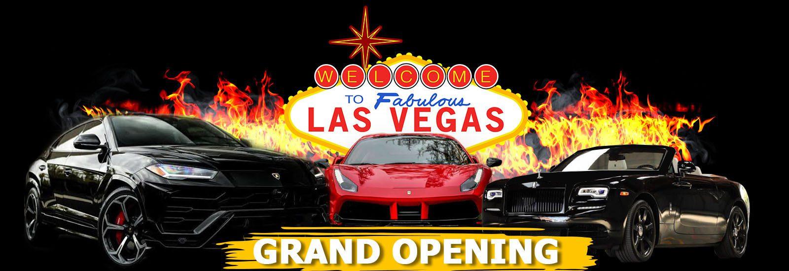777 Exotics Las Vegas Grand Opening Banner