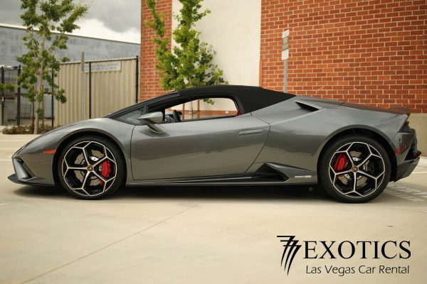 Lamborghini Huracan Evo Spyder Las Vegas side view