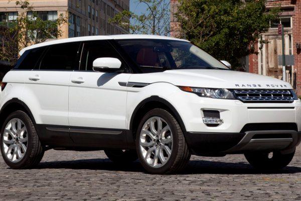 White Range Rover rental car LA