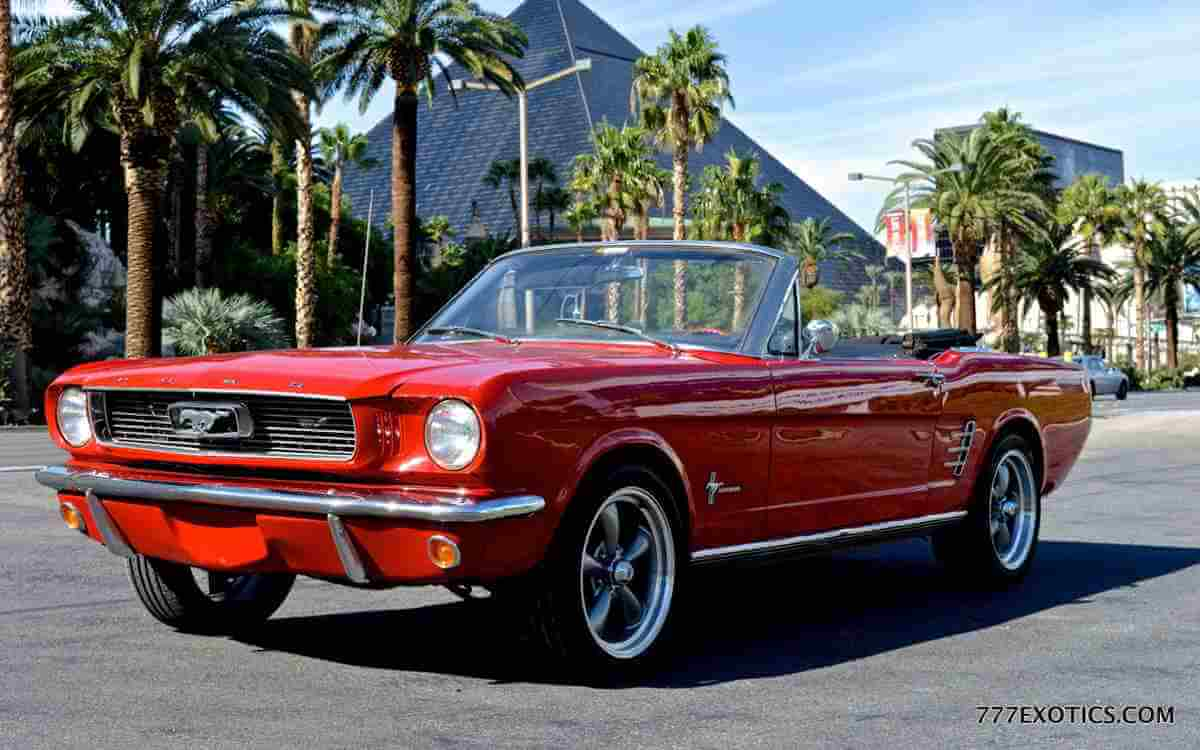 1966 Ford Mustang Rentals Los Angeles 777 Exotics
