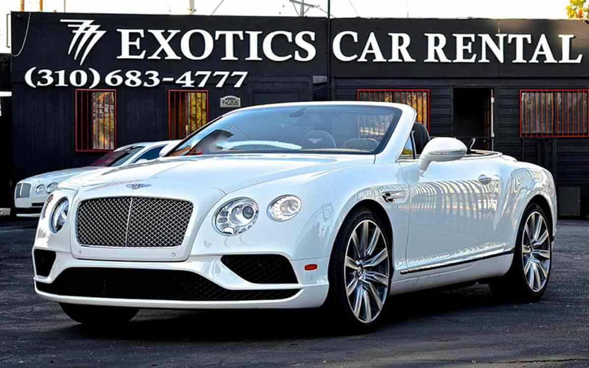 Exotic car rental los angeles