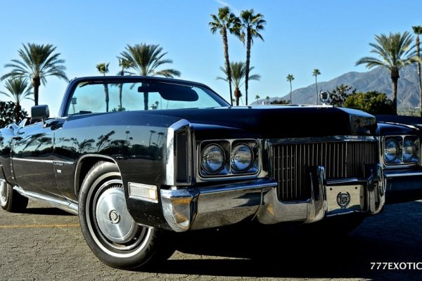 Beverly Hills cadillac eldorado black Top down rental