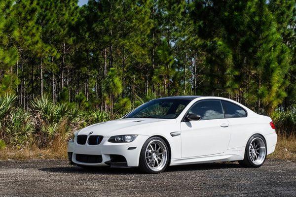 Rental BMW white street view socal