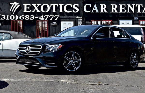 mercedes car black rental Beverly Hills