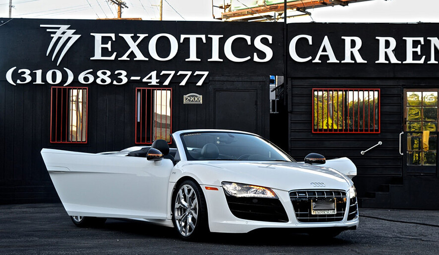 Audi R8 Rental 777 Exotics Los Angels and Las vegas