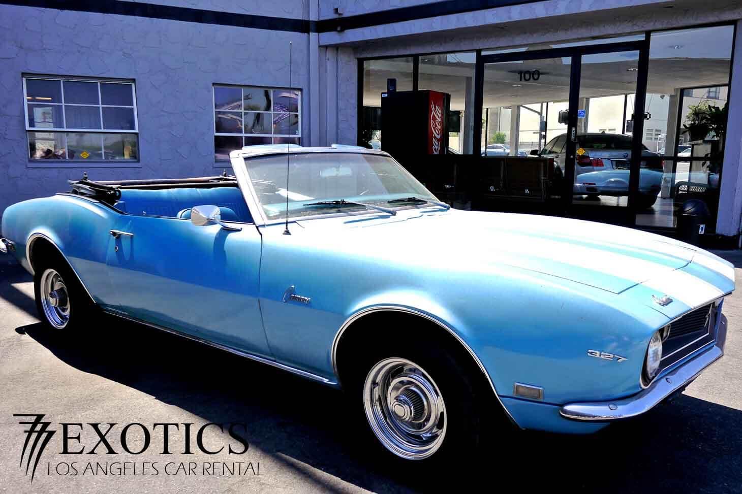 1968 Chevy Camaro Rental Los Angeles And Las Vegas Classic Car