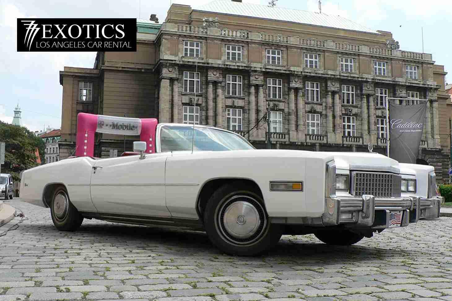 1975 Cadillac El Dorado side - 777 Exotic Car Rental Los ...