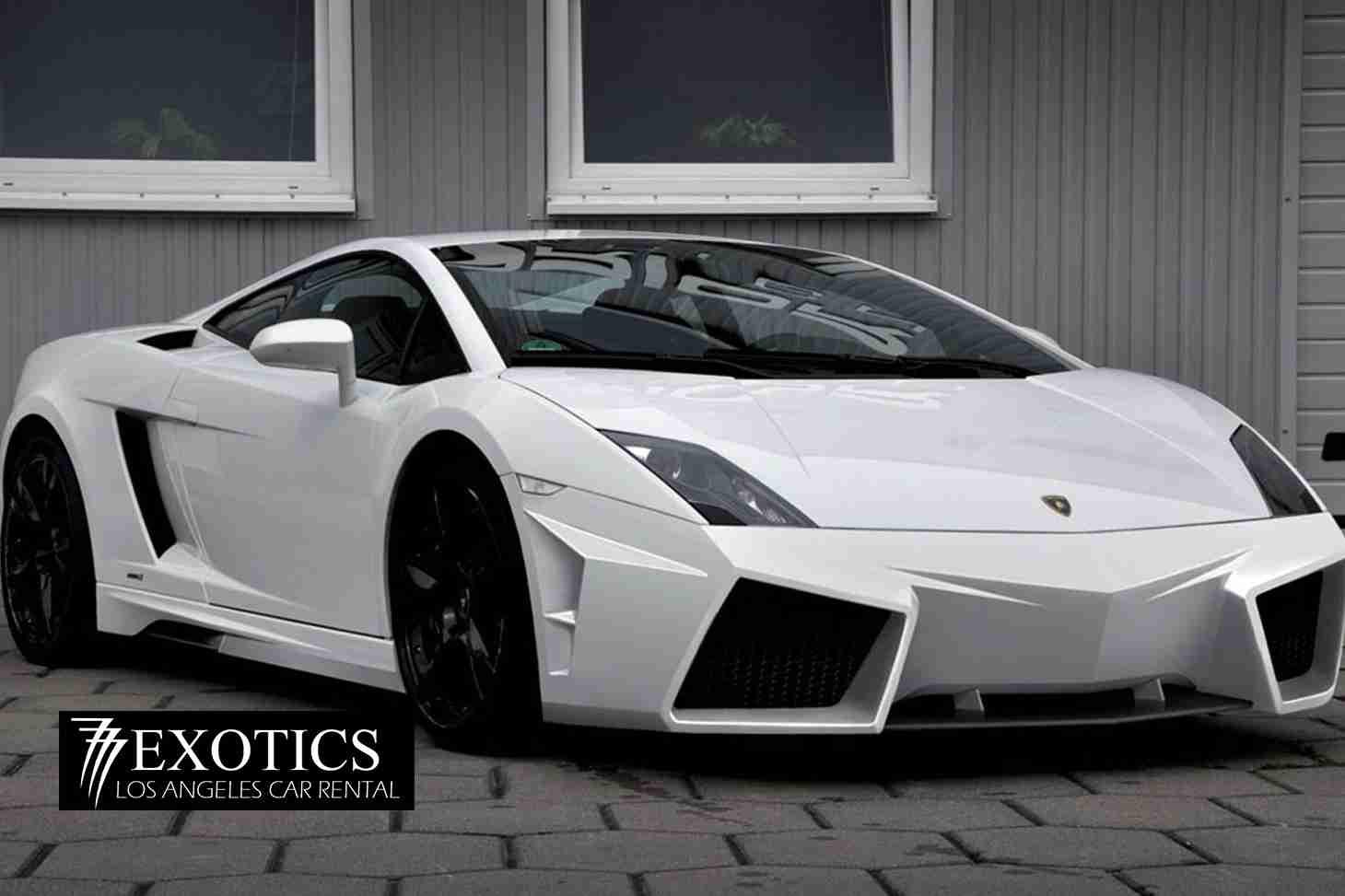 Front View Lamborghini White Rental Los Angeles