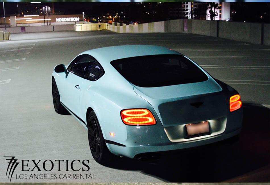 Bentley Continental GT Tiffany Blue back