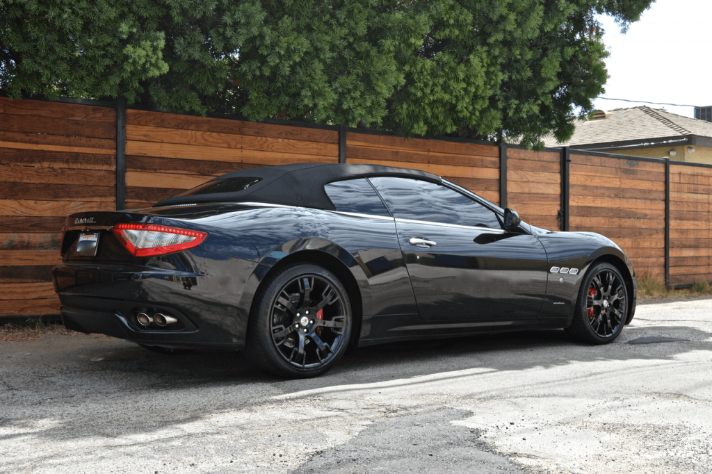 back side view of the maserati convertible
