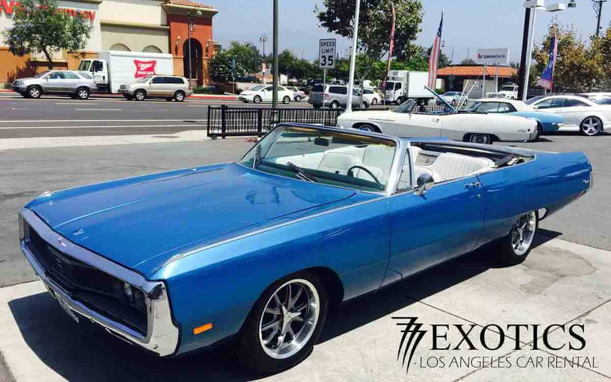 Classic Convertible Rental Chrysler Newport Los Angeles Las Vegas