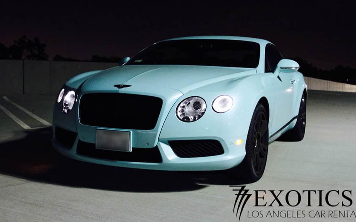 Los Angeles Luxury Exotic Car Rental Bentley Continential