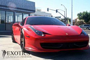 Red rental Ferrari LA