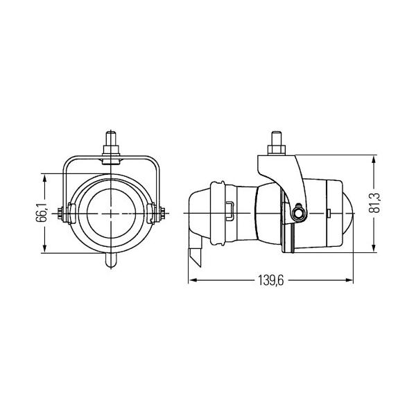 hella h13090611 micro de series 12v 55w halogen clear fog lamp kit  3