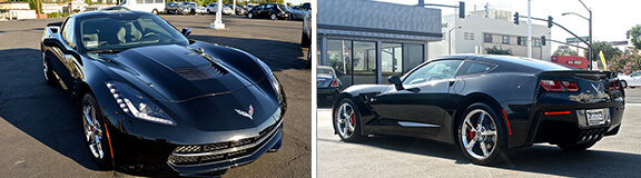 corvette stingray black 2014