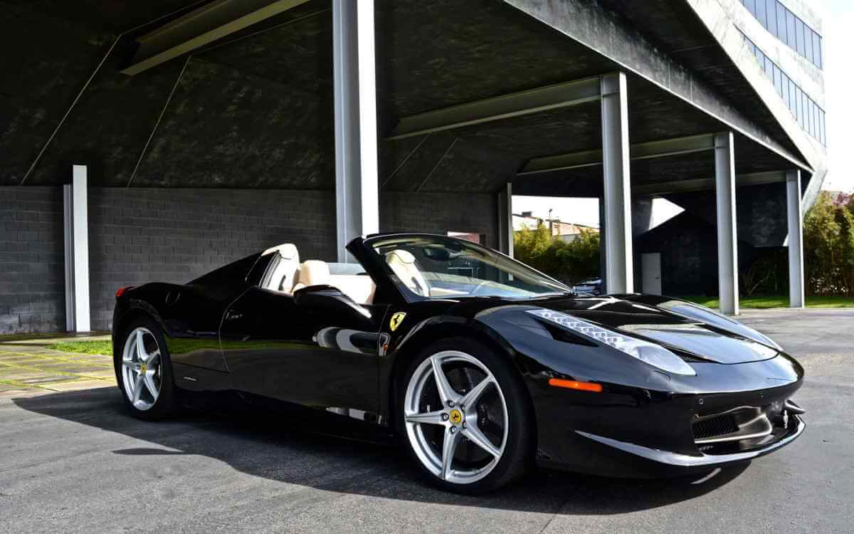 Ferrari 458 Italia Black Convertible Rental