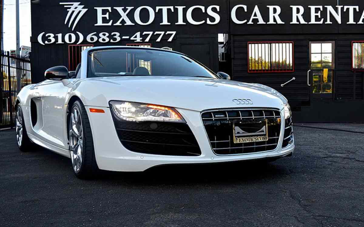 audi r8 rental 777 exotic car rental los angeles. Black Bedroom Furniture Sets. Home Design Ideas