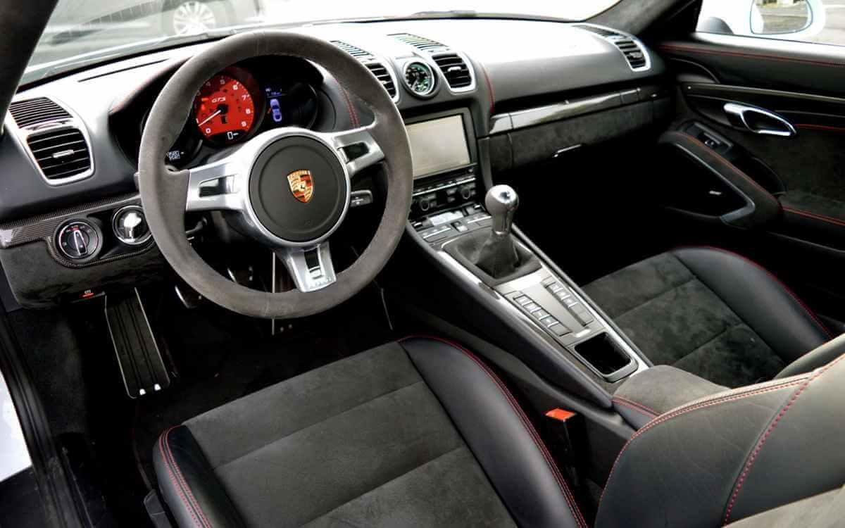 White Porsche Sports Car Leather Seats 777 Exotic Car