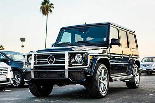 mercedes luxury car