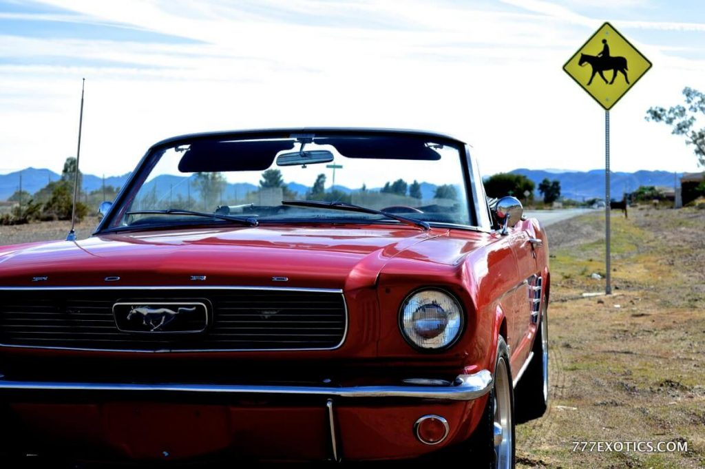 1966 Red Ford Mustang Convertible