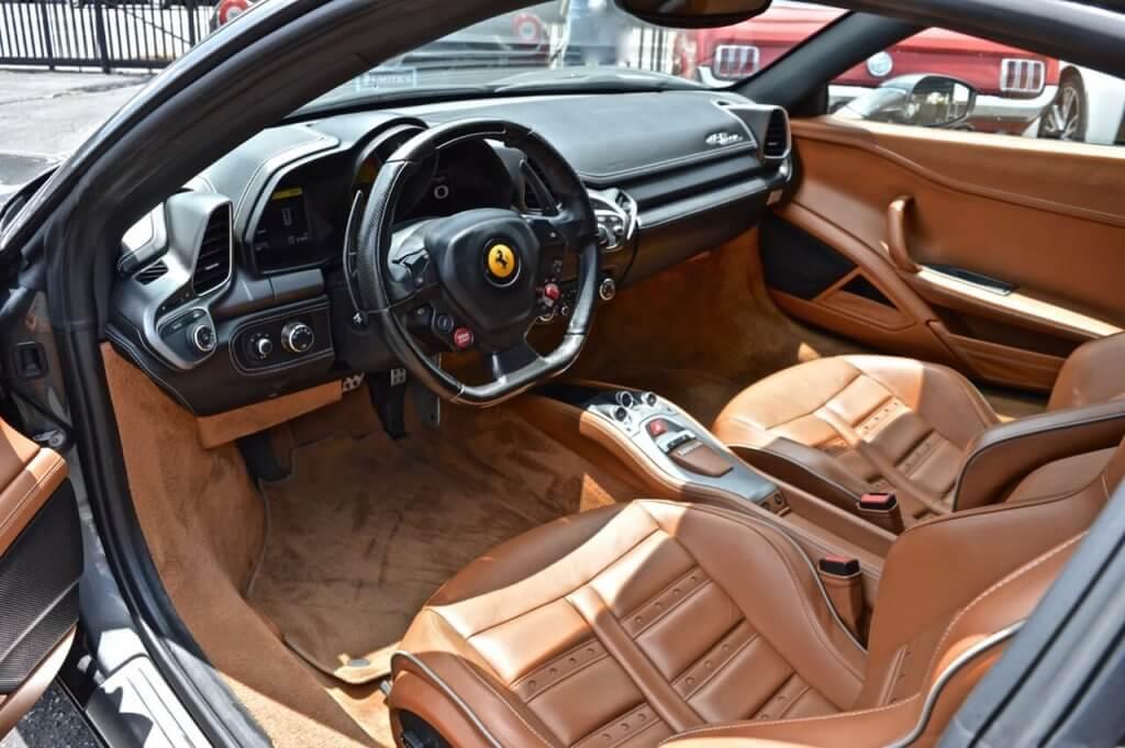 Silver Ferrari 458 Convertible