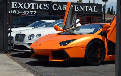 Lamborghini Aventador Orange Rental front left