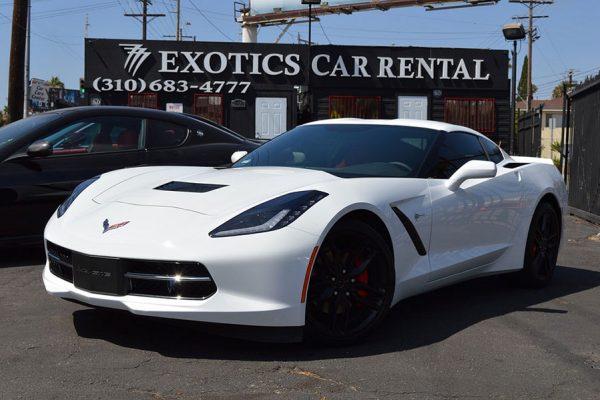 White Corvette Rental