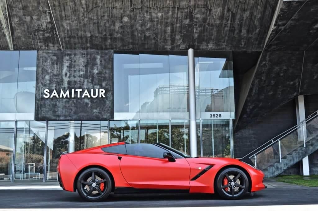 Red Chevrolette Corvette Side View