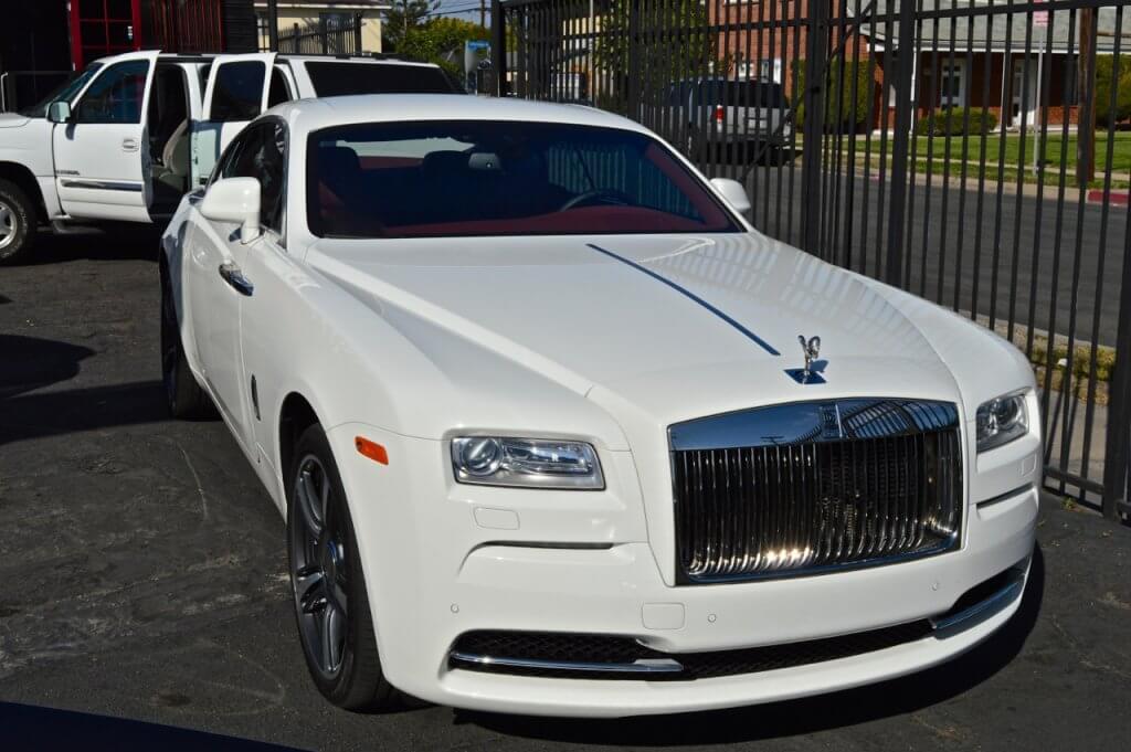 White Rolls Royce Wraith Rental los angeles