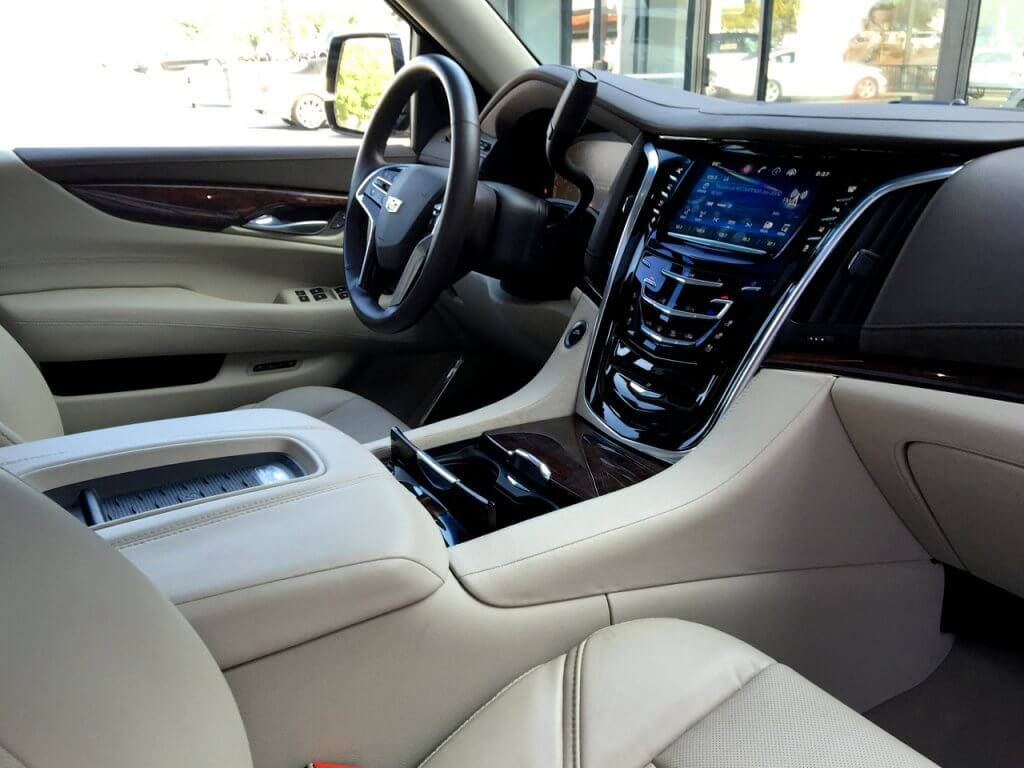 Interior Of Cadillac Escalade Esv 777 Exotic Car Rental Los Angeles