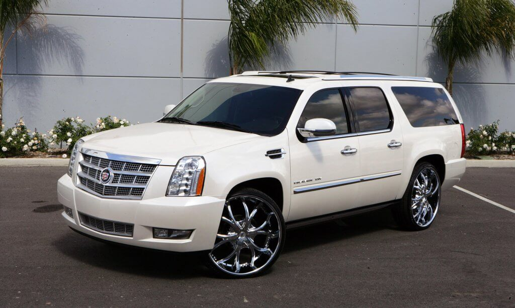 White Escalade 777 Exotic Car Rental Los Angeles