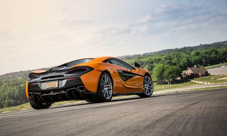 Back View Of McLaren-Los Angeles Exotics Cars