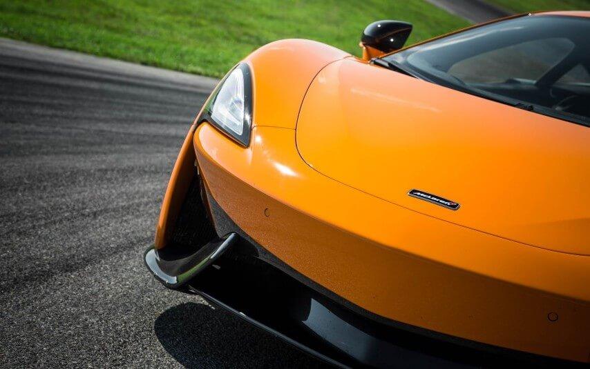 Front headlight view of McLaren-Los Angeles Exotics Cars