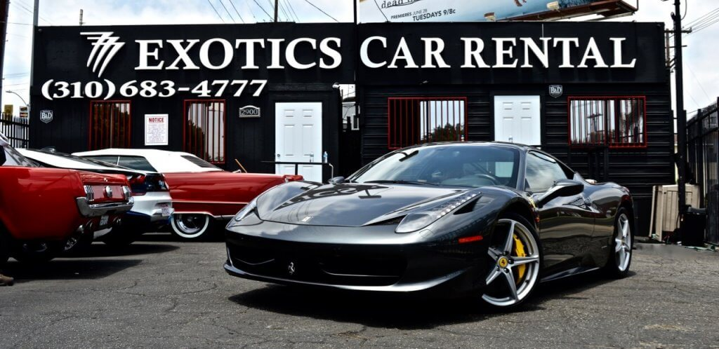 Silver Ferrari 458 Convertible Rental Los Angeles