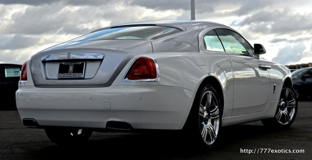 Back View | Rolls Royce Wraith Rental | Rolls Royce Wraith for Rent | Los Angeles