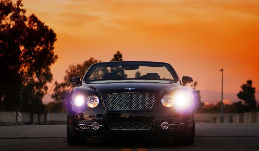 BLACK BENTLEY GT CONVERTIBLE IN LOS ANGELES