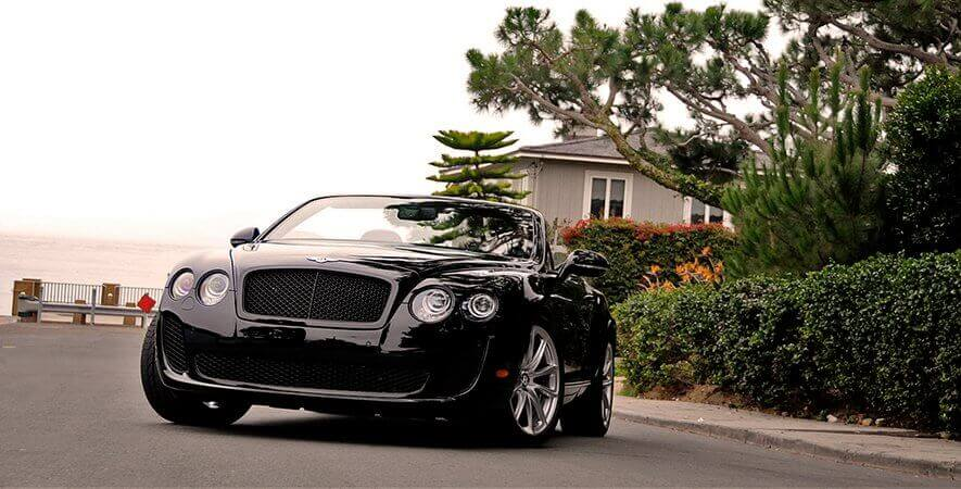 Black Bentley Convertible GT
