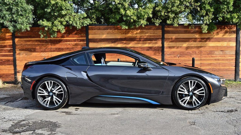 dark gray bmw i8 rental socal