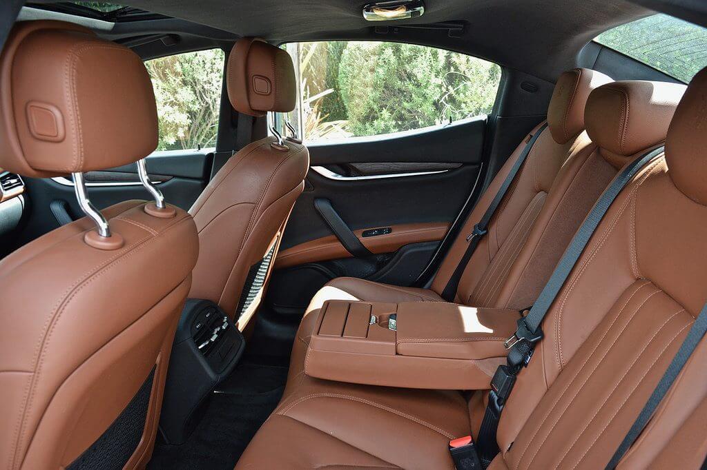 Rental Maserati Ghibli  brown interior Beverly Hills