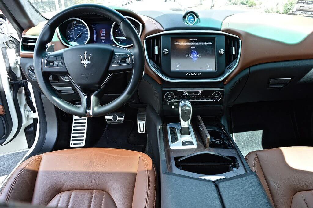 Maserati Ghibli Rental interior view Los Angeles rental