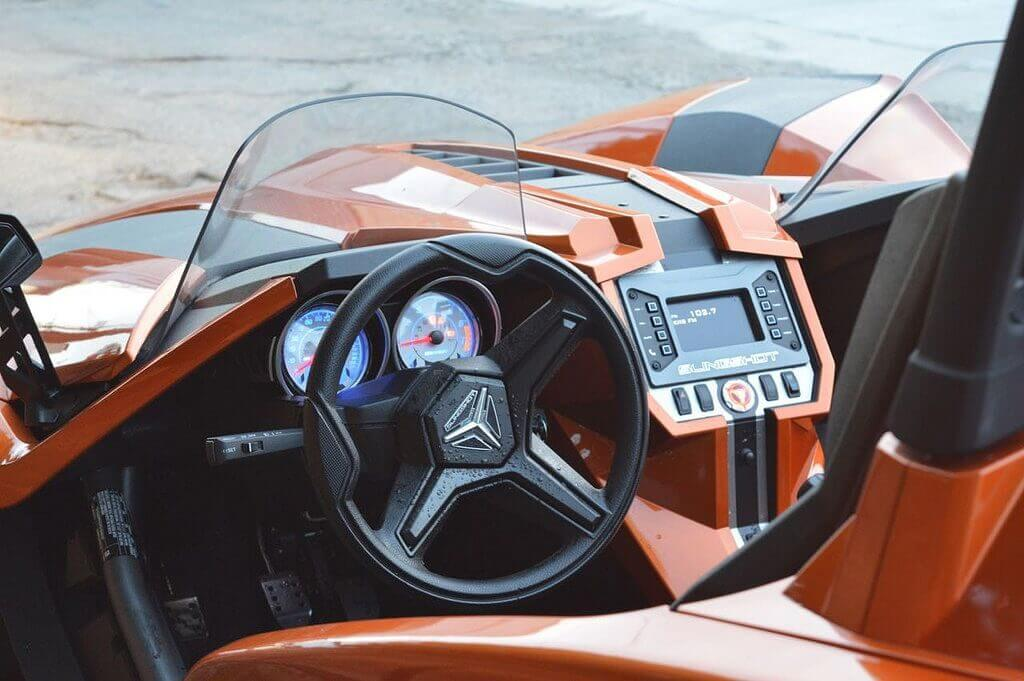 Interior | Polaris Slingshot Rental Los Angeles