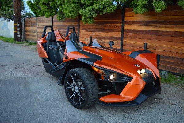 orange slingshot rental LA front view