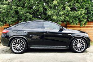 mercedes benz GLE AMG coupe rental side view LA