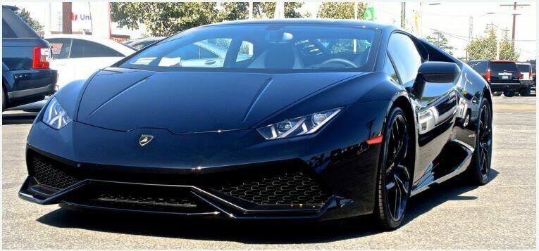Lamborghini Huracan Black Rentals Los Angeles