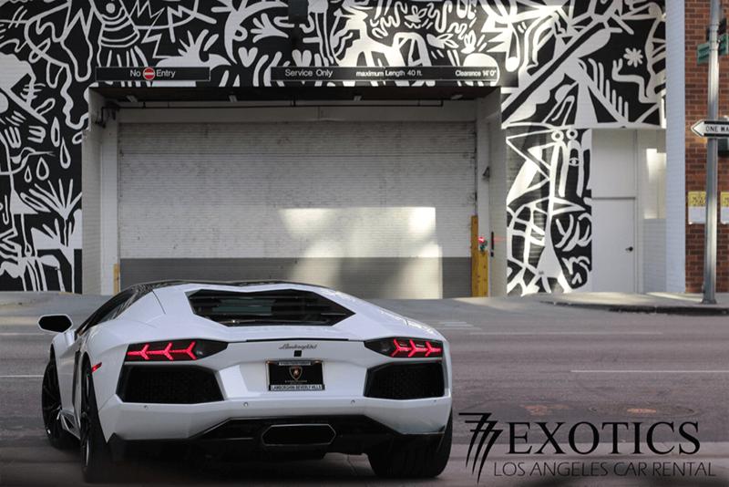 Lamborghini Aventador White Rentals Los Angeles