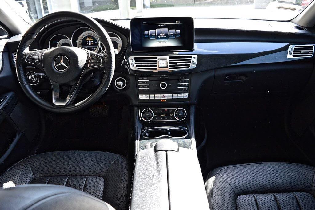 mercedes benz CLS400 rental interior view LA