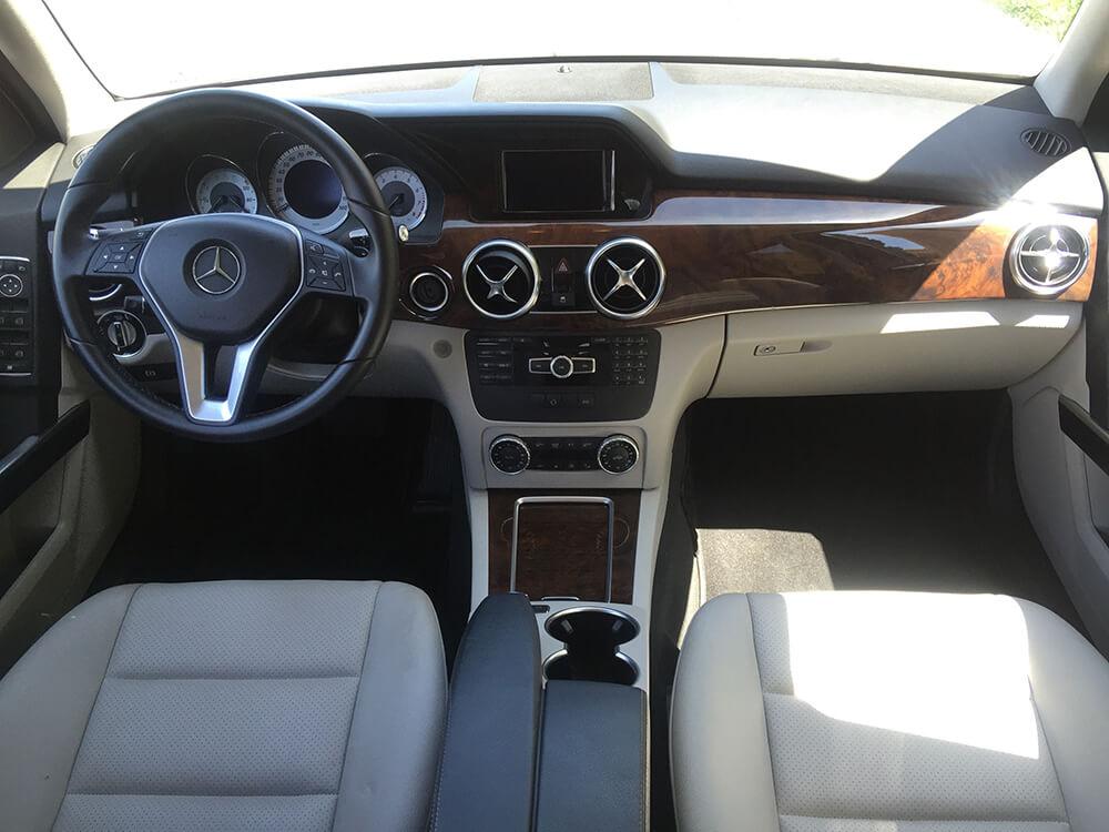 interior view of Mercedes Benz GLK 350 LA rental