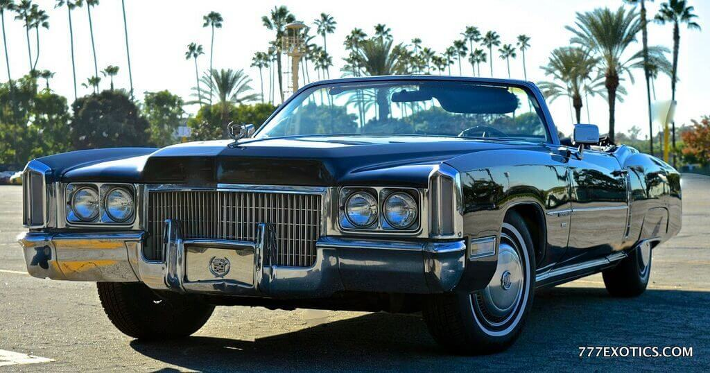 1971 Black Cadillac Eldorado Rental Los Angeles
