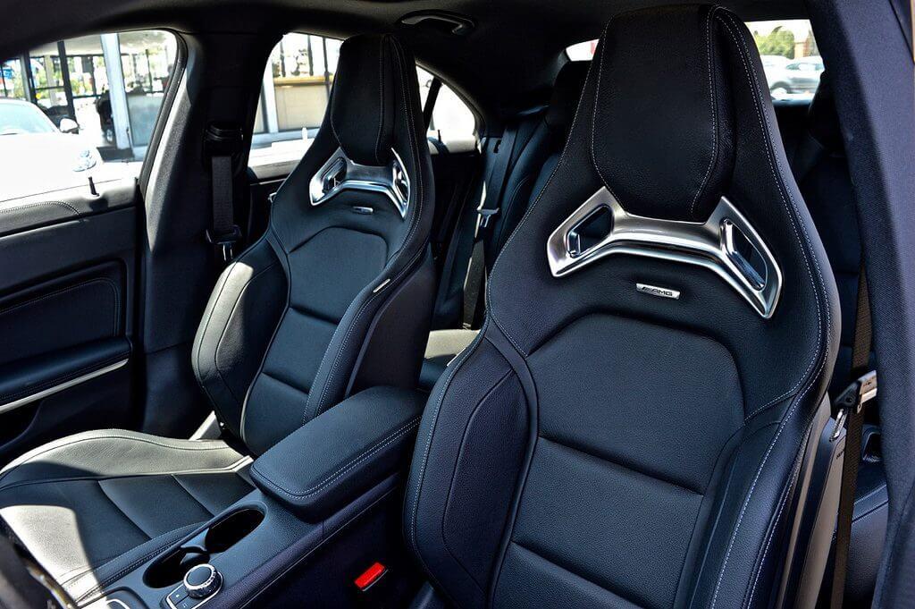 mercedes benz CLA 45 rental seats view LA